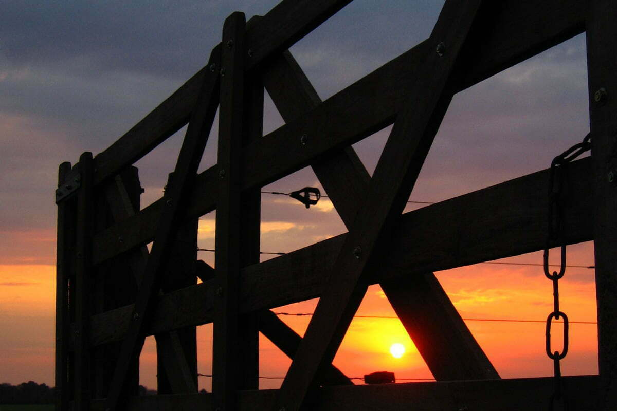 fence-at-sunset