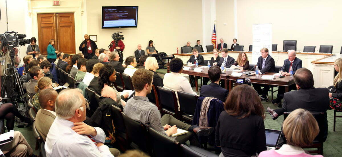 A Sunlight Foundation Event in the Committee on Oversight and Government Reform Room on Capitol Hill.