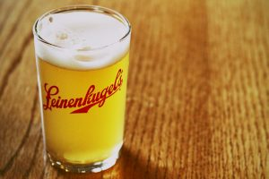 A cold Leinie taken at the Jacob Leinenkugel Brewing Company in Chippewa Falls, Wisconsin.