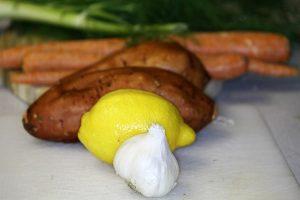 Garlic, Lemon, Potatoes, Carrots, etc